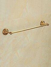 Antike Handtuch Bar Ein-Bar Kupfer Bad Handtuch Rack Verlängern Sie das Badezimmer Europäische Handtuchhalter ( Farbe : 1 , größe : 100cm )