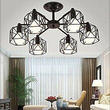 Antike Industrial Wohnzimmerlampe Schwarz