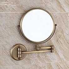 Antike Kupfer bad kosmetikspiegel klappbare Spiegel Wc ausziehbaren Spiegel Wandspiegel-8-Zoll,1308W Antike