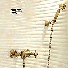Antike Kupfer Badewanne Armatur Dusche Badezimmer Dusche Wasserhahn Mischventil eingestell
