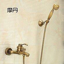 Antike Kupfer Badewanne Armatur dusche Wasserhahn bad Armatur warme und kalte Dusche Dusche einstellen