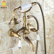 Antike Kupfer Badewanne Armatur Wasserhahn Bad Dusche, Wasserhahn warmes und kaltes Wasser mischen Ventil set Bell punch Dusche