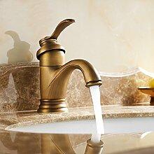 Antike Kupfer Wasserhahn Waschbecken Bad