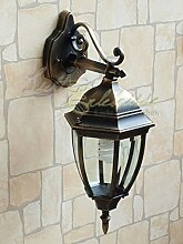 Antike LED Energiespar-Wand-Außenleuchte 12 Watt IP44 aus Aluguss Außenlampe Wandleuchte Lampe Leuchte