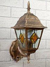 Antike LED Energiespar-Wand-Außenleuchte 6 Watt IP43 aus Aluguss Außenlampe Wandleuchte Lampe Leuchte