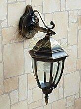 Antike LED Energiespar-Wand-Außenleuchte 6 Watt IP44 aus Aluguss Außenlampe Wandleuchte Lampe Leuchte