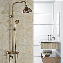 Antike Messing Bad Dusche Wasserhahn Komplettset