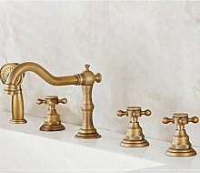 Antike Messing Waschbecken Badewanne Wasserhahn