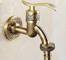 Antike Messing Waschbecken Wasserhahn kalten