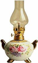 Antike Petroleumlampe Keramik Lampenkörper mit
