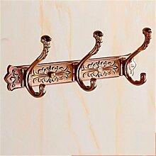 Antike Retro Kleiderhaken Europäischen Reihe Haken Kleiderbügel Kleiderhaken Wohnzimmer Tür Nach Dem Bad Wandbehang Bad Haken , D , 3 hook