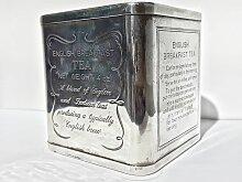 Antike silberne englische 925 Teebox, 1900er