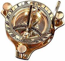 antike Sonnenuhr mit Kompass Nostalgie Zeitmesser