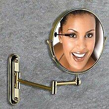 antike Spiegel/[Antike Make-up Spiegel]/Toilette klappbare Wandspiegel/Teleskop Lupe auf beiden Seiten Bad Kosmetikspiegel-E