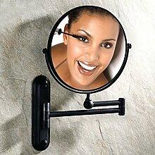 antike Spiegel/[Antike Make-up Spiegel]/Toilette klappbare Wandspiegel/ Teleskop Lupe auf beiden Seiten Bad Kosmetikspiegel-D