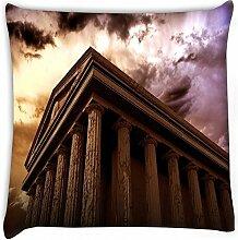 Antike Tempel Home Decor Werfen Sofa Auto Kissenbezug Kissen Fall 61x 61cm