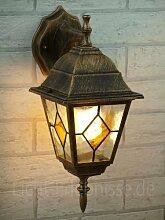 Antike Wand-Außenleuchte IP43 LE 2/1/866 aus Aluguss Außenlampe Wandleuchte Lampe Leuchte