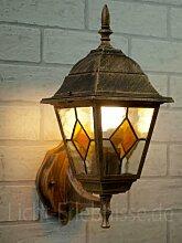 Antike Wand-Außenleuchte IP43 LE 2/1/867 aus Aluguss Außenlampe Wandleuchte Lampe Leuchte