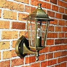 Antike Wand-Außenleuchte Paris / IP44 aus Aluguss / rustikaler Stil / wettergeschützte Wandlampe für Außen Hof Garten