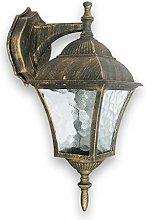 Antike Wand-Energiespar-Außenleuchte 11 Watt IP43 aus Aluguss Außenlampe Wandleuchte Lampe Leuchte