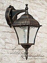 Antike Wand LED Energiespar-Außenleuchte 5 Watt IP43 aus Aluguss Außenlampe Wandleuchte Lampe Leuchte