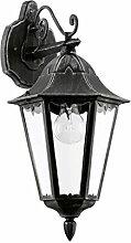 Antike Wandleuchte Rustikal Schwarz Laternenform