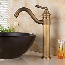 Antike Wasserhahn Cu alle Becken Sitzbank Waschbecken mit warmen und kaltem Wasser das kontinentale antiken Landhausstil zu drehen, Farbwiedergabe