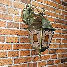 Antike XL Wandaußenleuchten Wandlampe Außenleuchte in antik gold E27 230V große Ausführung Beleuchtung für Hof und Garten Außen