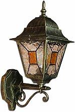 Antike XXL Außenleuchte Wandlampe H:42cm Gold
