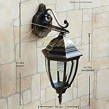 Antike XXL Wand-Außenleuchte IP44 E27 aus Aluguss nostalgischer Stil Außenlampe Wandleuchte