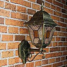 Antike XXL Wand Außenleuchte Wandlampe mit Glas