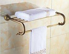 Antiken Europäischen Gold Bad Handtuchhalter Handtuchhalter Badezimmer Hanger Handtuch Stange Alle Kupfer Retro Wall Hanger Kleiderbügel