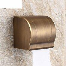 antiken Handtuchhalter/Völlig geschlossen Abdichtung Gewebekasten/Toilettenpapierhalter/Rolle/Bad-Accessoires-A