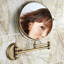 antiken Stil Spiegel Bad Kosmetikspiegel Teleskop Wandspiegel Vergrößerung Spiegel