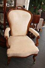 Antiker Biedermeier Armlehnstuhl auf Rollen