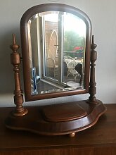 Antiker Biedermeier Frisiertisch-Spiegel