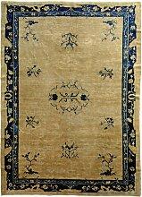Antiker chinseischer Teppich in Blau & Weiß,