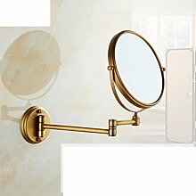 Antiker klappbare Spiegel/European-Style Bad Kosmetikspiegel/Teleskop Wandspiegel-B