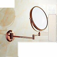 Antiker klappbare Spiegel/European-Style Bad Kosmetikspiegel/Teleskop Wandspiegel-D