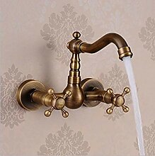 Antiker Messing Wasserhahn Retro Badezimmer