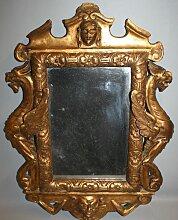 Antiker Regency Spiegel mit Holzdrachen &