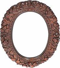Antiker Spiegel mit Rahmen aus geschnitzter Eiche