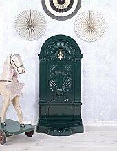 Antiker Standbrunnen, Zierbrunnen, Gartenbrunnen, Brunnen, Eisenbrunnen für den den Garten, die Terrasse oder schöne Zuhause, in Grün - Palazzo Exclusive