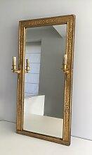 Antiker Vergoldeter Bronze Empire Spiegel mit