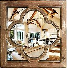 Antiker Wandspiegel aus Holz | Dekorativer Spiegel