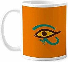 Antikes ägyptisches abstraktes Augenmuster Tasse