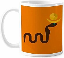 Antikes ägyptisches abstraktes Cobras Muster