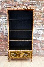 Antikes Bücherregal aus Bambus