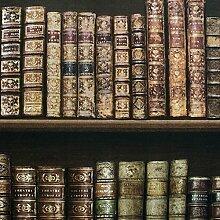 Antikes Bücherregal Tapeten - braun - 575208