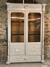 Antikes französisches Bücherregal aus Eiche mit